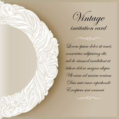 Vintage background, greeting and invitation card with ornament