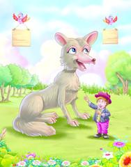Wolf with boy