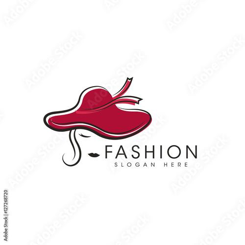 hat model fashion logo design vectoru0026quot; Stock image and royalty-free ...