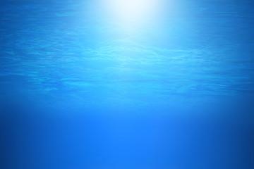 Deep blue sea or ocean underwater background.