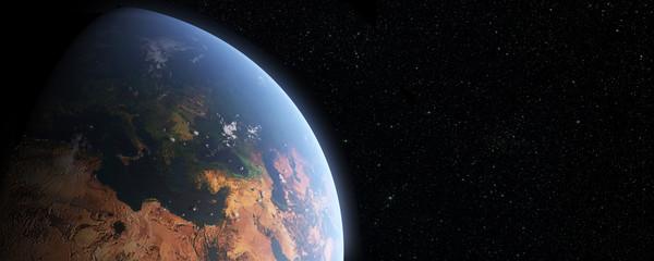 Earth, Europa and asia