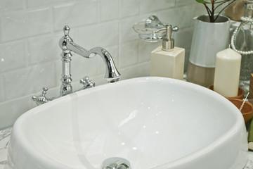 Old Vintage Style water tap in Bathroom.