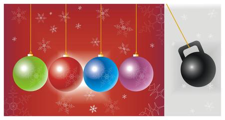 kettlebell christmas greeting card