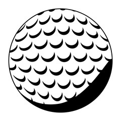 ball of golf icon. Sport hobby competition and game theme. Isolated black and white design. Vector illustration