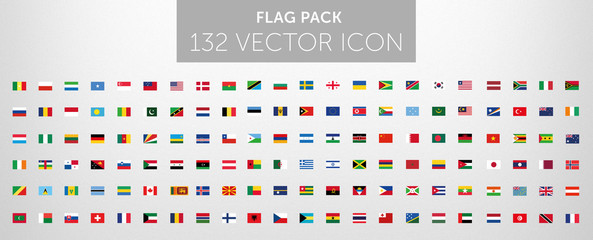 WORLD FLAG vector collection