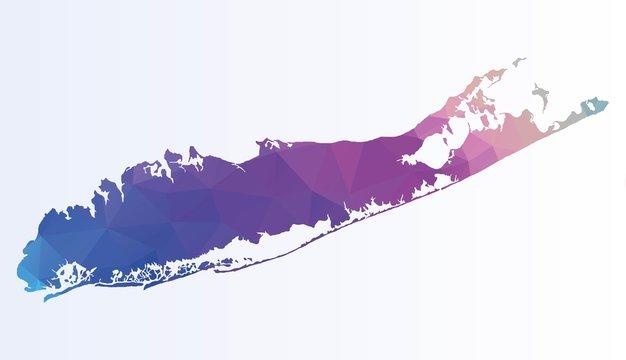Polygonal map of Long island