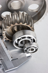 gears and bearings with calipers