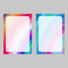 Colorful computer generated art frame set
