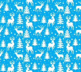 New Year's Christmas pattern pixel