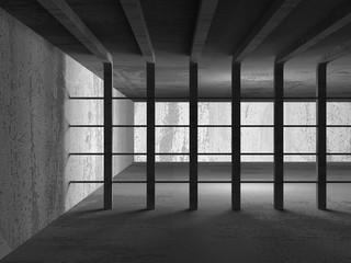 Dark concrete abstract architecture modern background