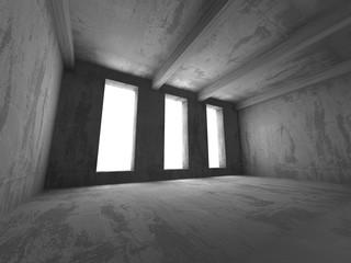 Empty concrete room. Geometric architecture background