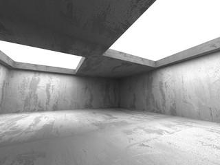 Dark concrete empty room interior. Architecture background