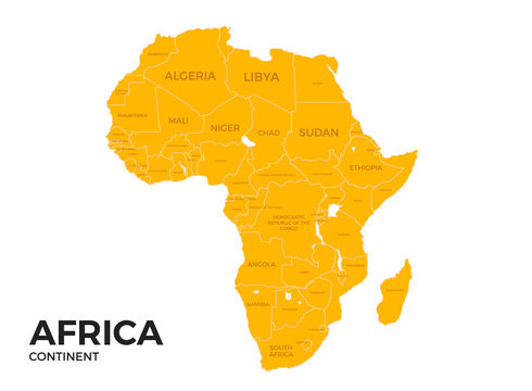 Africa continent Location Map