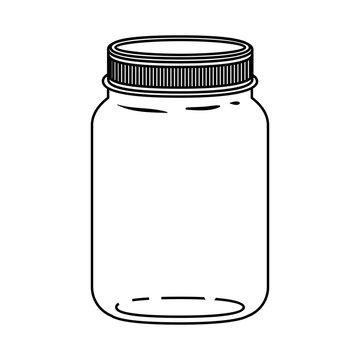 Mason jar icon. Retro vintage and decoration  theme. Isolated design. Vector illustration