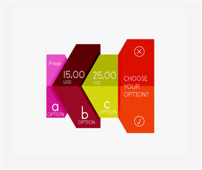 Infographic banners modern paper templates