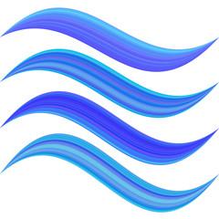 Blue abstract water symbol element design set