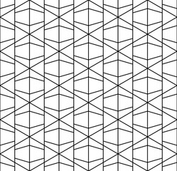 Vector modern abstract geometry grid pattern. black and white seamless geometric background . subtle pillow and bed sheet design. creative art deco. hipster fashion print