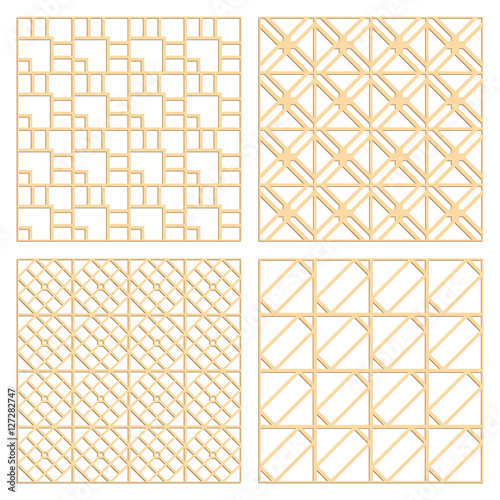 DIY Laser Cut Vector Patterns. Art Deco Die Cut Patterns. Ornaments For  Partition Wall