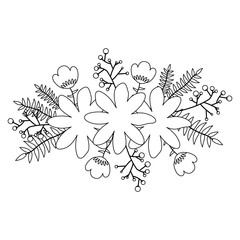 Flower icon. Decoration rustic garden floral nature plant and spring theme. Isolated design. Vector illustration