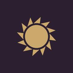 The sunrise icon. Sunrise and sunshine, weather, sun symbol. UI. Web. Logo. Sign. Flat design. App. Stock