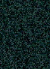 Abstract triangle mosaic background in dark tones