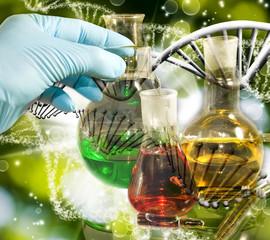 image of laboratory glassware closeup