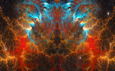 The cosmic mind.  Fractal Art.