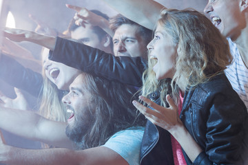 Crowd of young people at concert