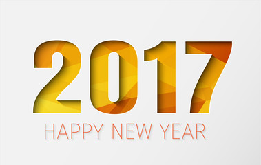 Horizontal banner template (background) Happy New Year 2017