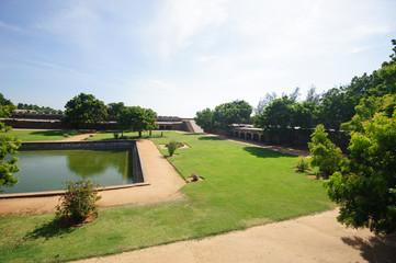Vattakottai fort and beach in Kanyakumari, Tamil Nadu, India