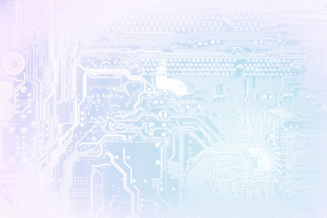 Computer electronic circuit abstract background