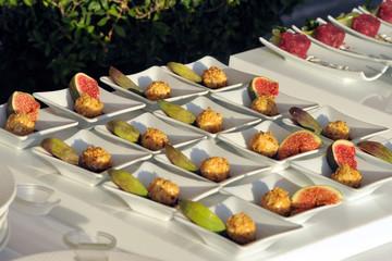 Mini porzioni - Fichi e formaggio - Buffet - colori