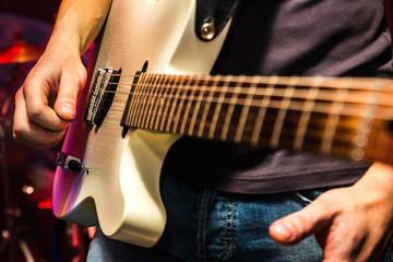 Guitarist on stage, live concert
