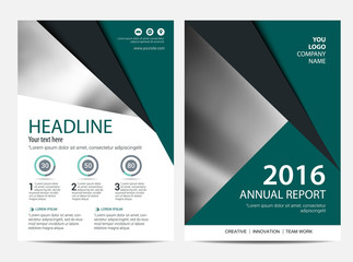 Brochure template flyer design vector background, Annual report Layout design template