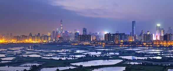 Shenzhen citscape at night