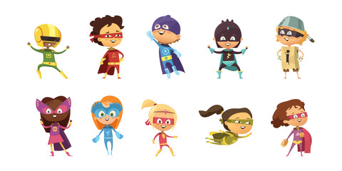 Kids Supeheroes Retro Set