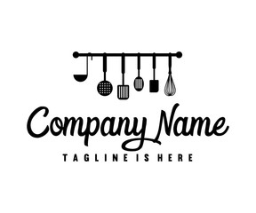Kitchen Tool Cooking Logo Design