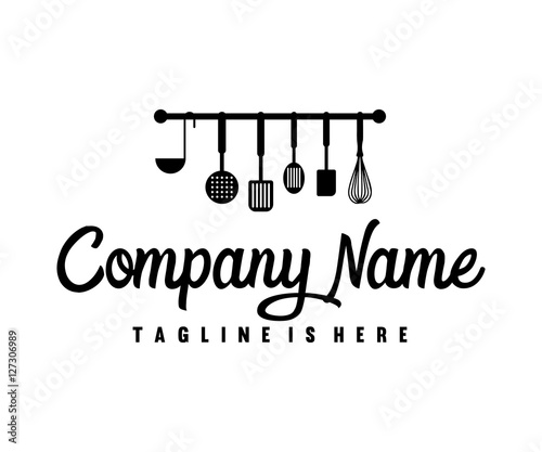 """Kitchen Tool Cooking Logo Design"" Imagens E Vetores De"