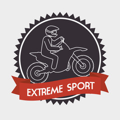 motorcycle rider extreme sport banner vector illustration eps 10