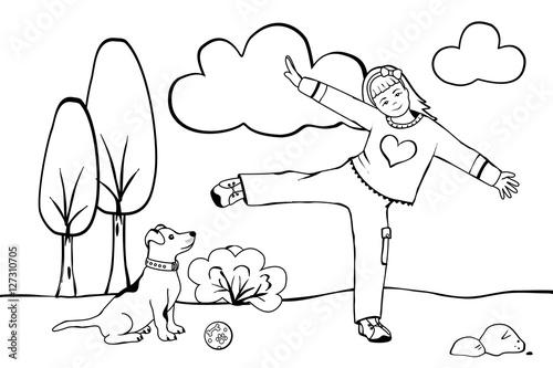 """""""mädchen mit ihrem hund"""" stockfotos und lizenzfreie bilder"""