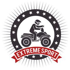 atv extreme sport label design vector illustration eps 10