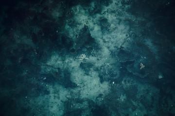 Ocean seabed background. Dark blue