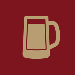 Glass of beer icon. Beer and pub, bar symbol. UI. Web. Logo. Sign. Flat design. App.Stock
