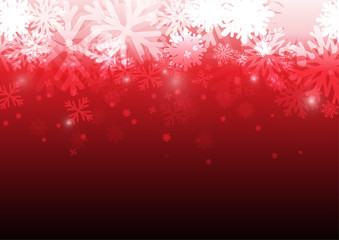Vector : Ice crystal on red background