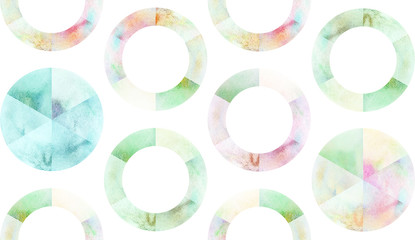 Watercolor circle pattern