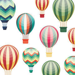 balloon air hot travel vector illustration design