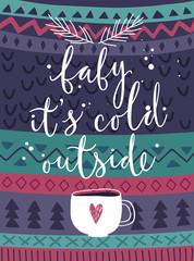 Wall Mural - Christmas card