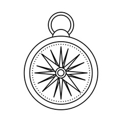 compass travel device icon vector illustration design