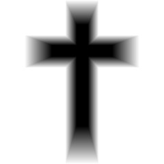 Symbol of a church cross. Christianity religion symbol. Abstract background.