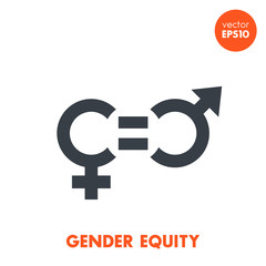 gender equity icon on white, vector symbol